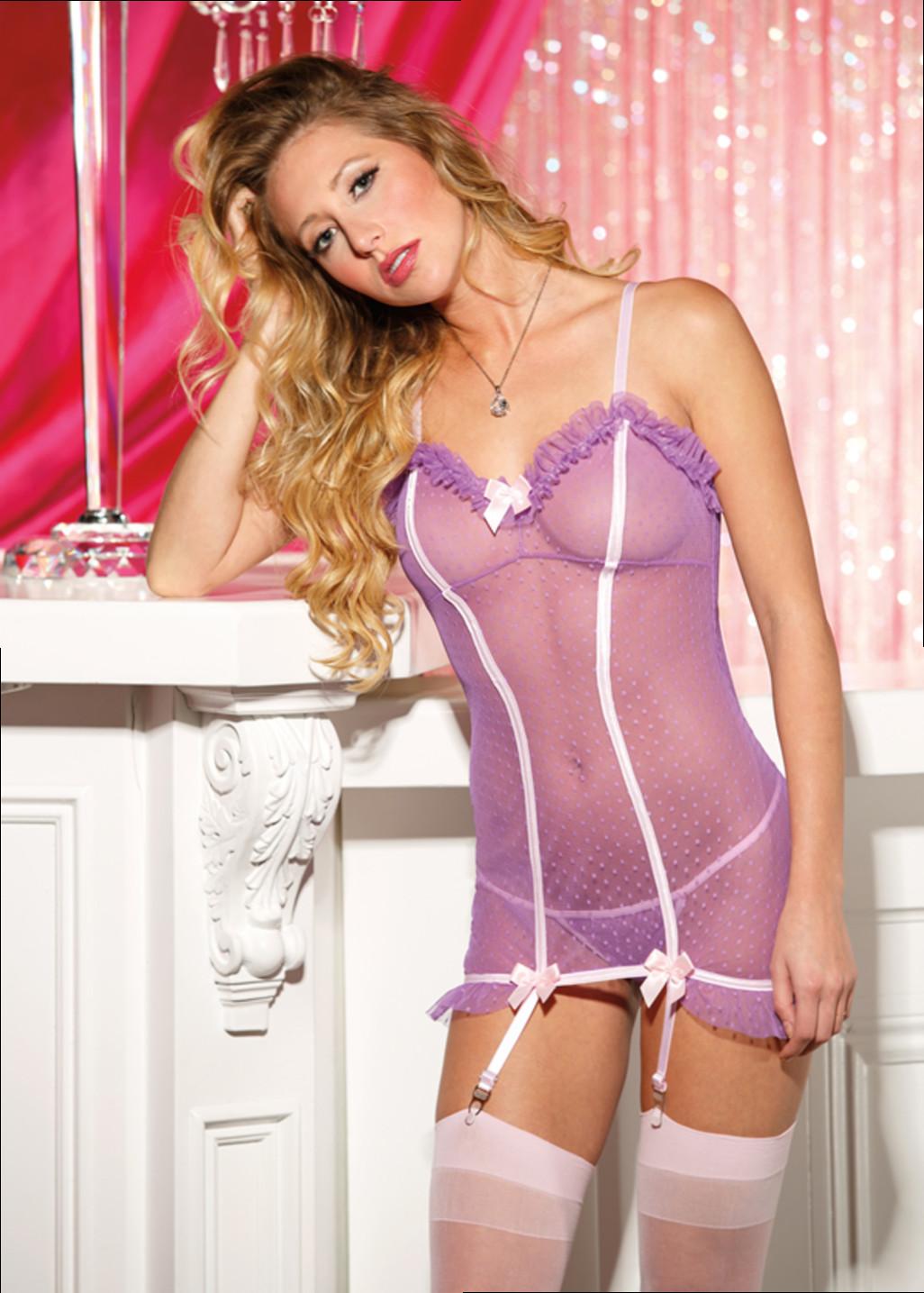 Розовая сорочка с рюшками 3 фотография