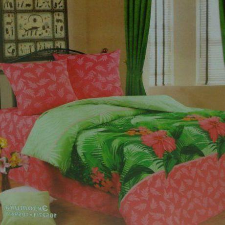 Постельное белье Экзотика Вдохновение Комплект 1.5 спальный Сатин